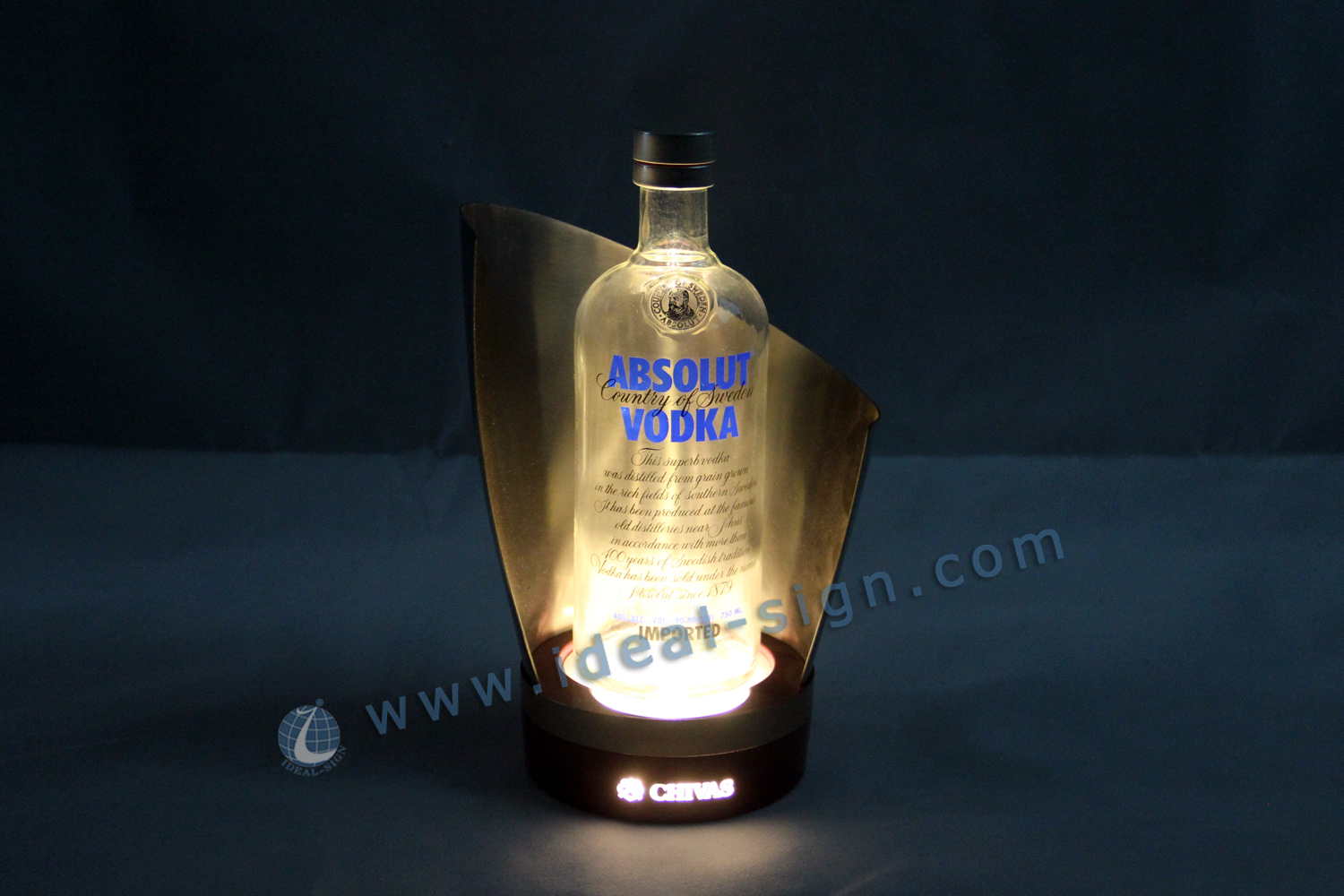 Stainless steel LED Liquor Bottle Display
