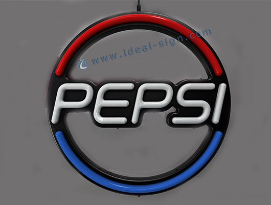 Custom neon bar signs for Pepsi Displaying