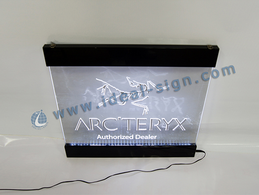 indoor LED Acrylic Edge Lit Signs / Signage Display