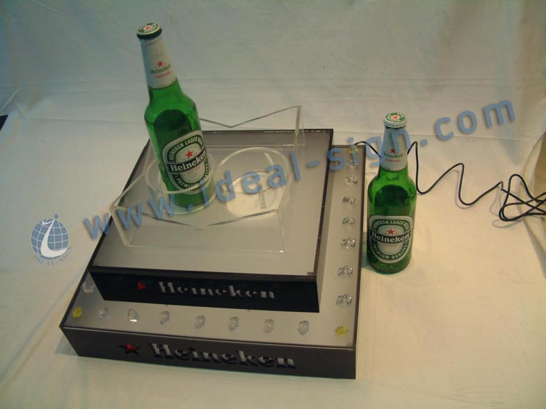 High quality Heineken LED Beer bottle rack