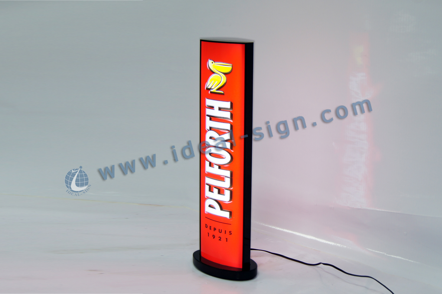 Indoor LED Vacuum Formed Light Box Wall Mounted Sign