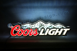 Coors Light indoor light sign
