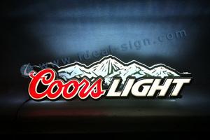 Coors Light indoor light sign