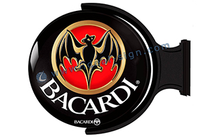 Bacardi vacuum formed acrylic sign