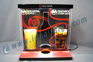 lighted liquor bottle displays custom made