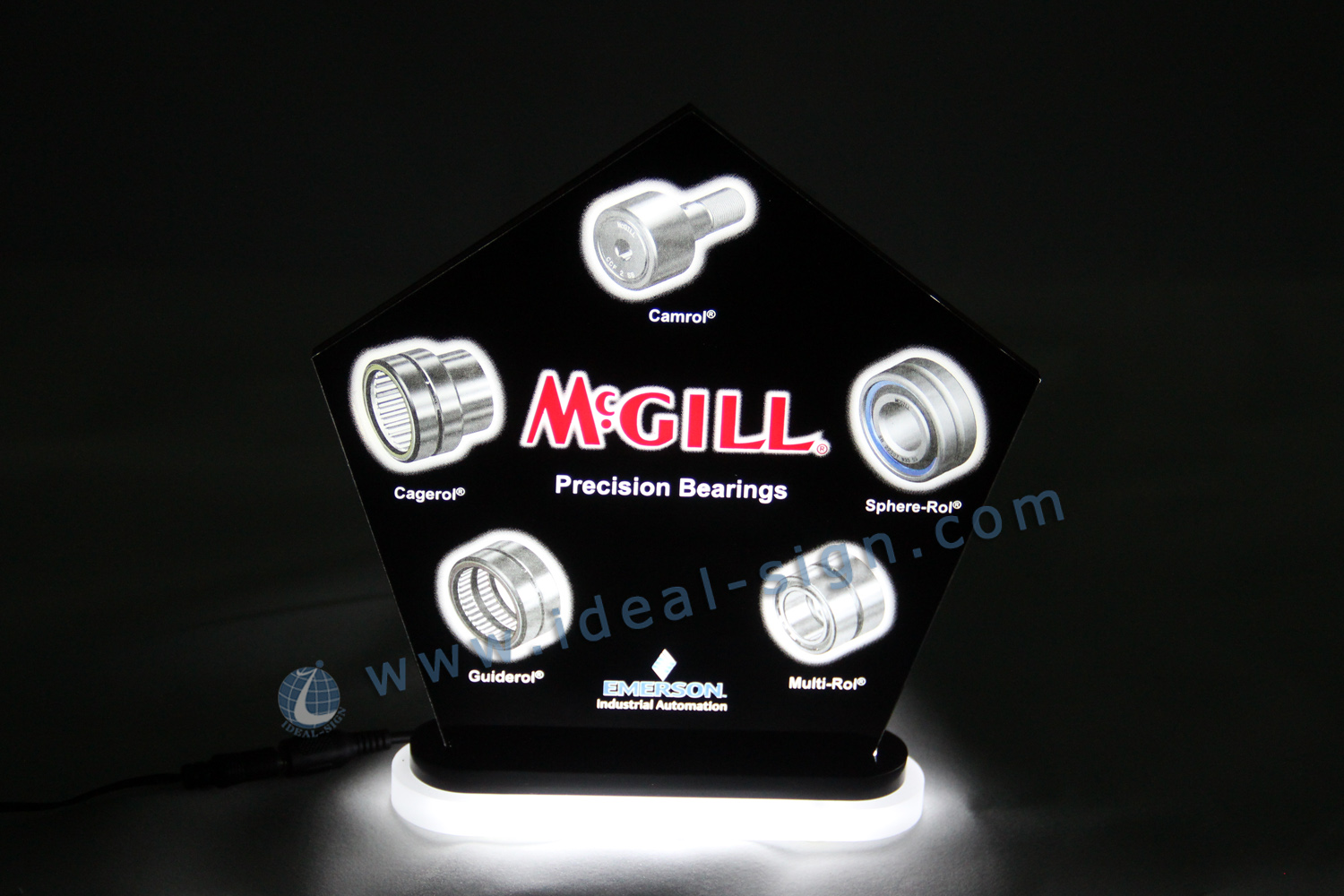 indoor led edge lit sign / lasering led acrylic sign
