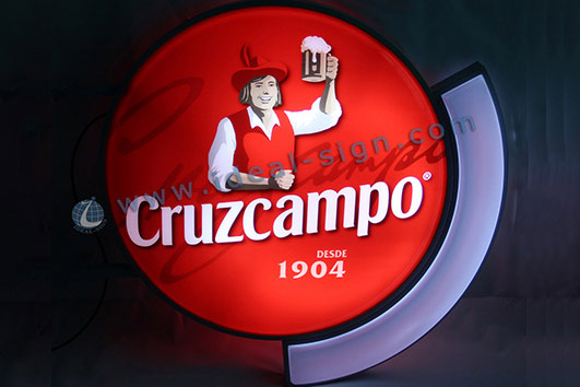 Custom Vacuum Formed Sign Cruzcampo