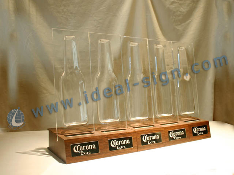 Corona LED Acrylic Bottle shelves for Brand promoting