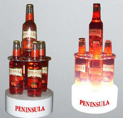 Peninsula Bar Shelves LED Liquor Acrylic Bottle Holder