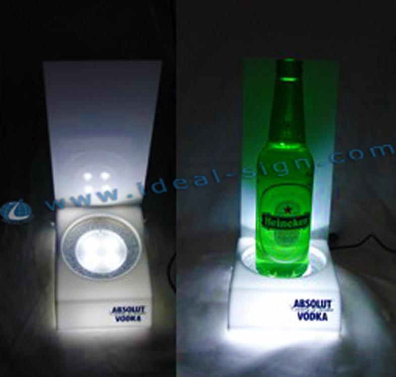 Whie Color Led Acrylic Liquor Bottle Glorifier