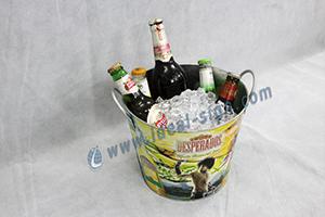 tinplate ice bucket for bar
