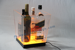custom printed acrylic ice bucket