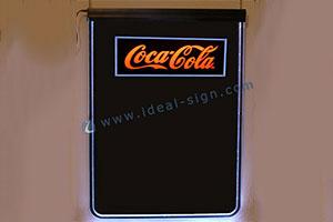 LED writting board for Coca Cola