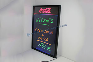 lighted advertising chalkboard