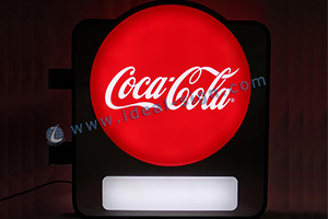 Coca Cola led vacuum formed sign board
