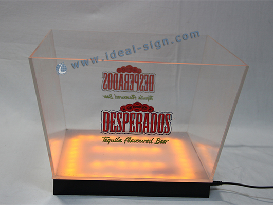 High Quality Desperado Acrylic LED Ice Bucket