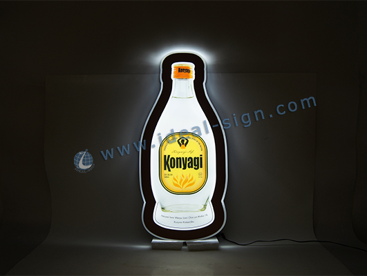 Bottle Shape slim Led Illuminated Sign