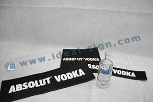 personalised pvc bar mat
