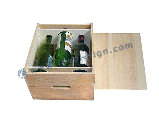 3 Bottle Wood Wine Gift Packing Box