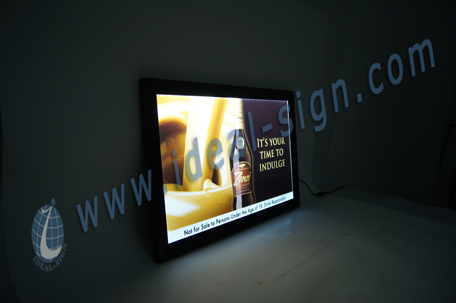 Framed Slim LED indoor light Signs