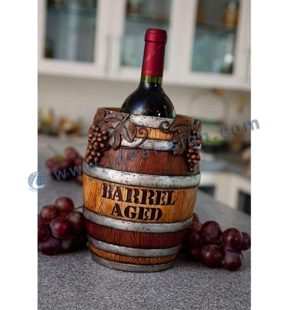 Wooden Wine Liquor Bottle Display Stand