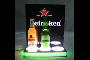 Acrylic led bottle stand