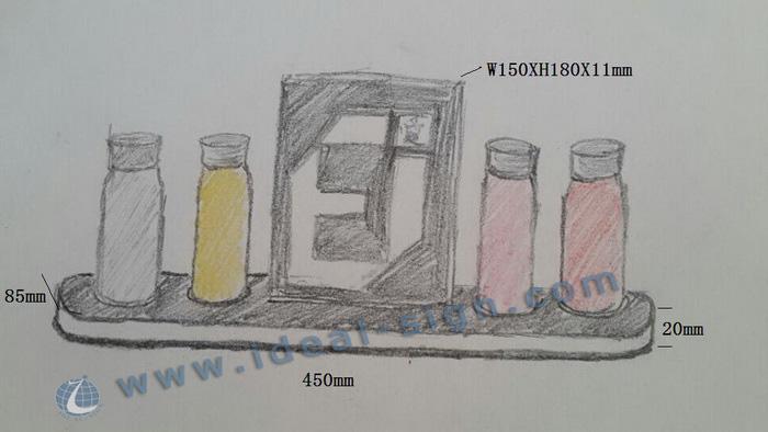 Custom 4 Bottles LED Glorifier Display
