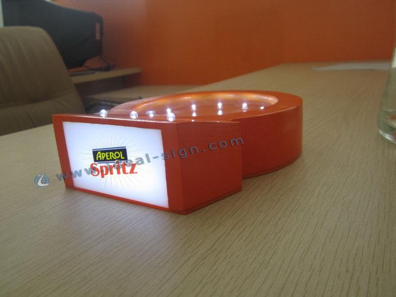 Aperol Orange Acrylic LED Wine Liquor Bottle Display