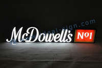 3D Shop Bar Sign with Customized Brands McDowell''s No1 Letters