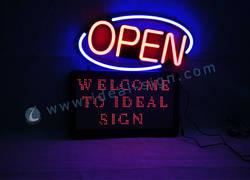 CERES Indoor Segni di luce a LED per la pubblicità display 70 x 40 x 8cm