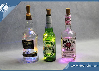 lighted bottles