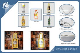 Bottle Shape Super Slim Light Sign