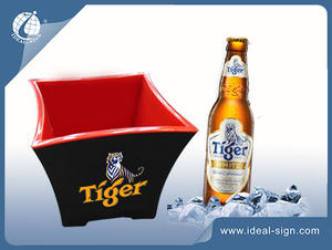 custom made plastic ice beer bucket for wholesale with factory price