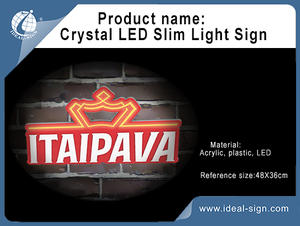 Super Slim acrilico LED Sign Light Box