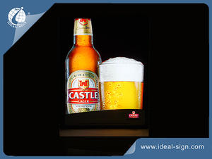 China supplier of Indoor Led Light box for beer brand advertising