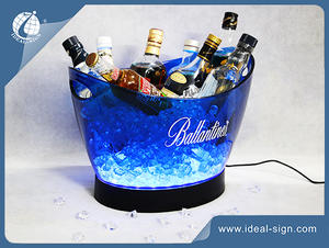 12L Big stockage Ice Led Bucket In Bar