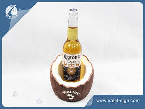 Coconut Shape Resin Led Liquor Bottle Displays Stand For Bar Promotion
