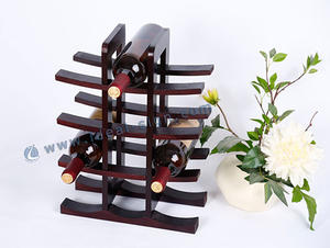 Personalized wood wine racks & storage wine MDF display for wholesale