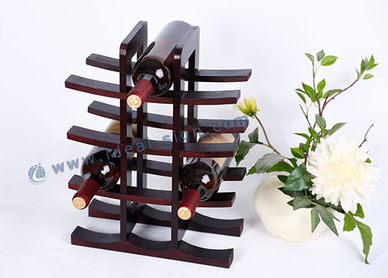12 - Bottle Holder Vino legno di pino MDF Display da 30 * 15 * 40CM