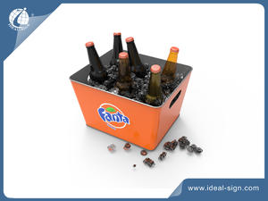 customized metal beer ice buckets in bulk quantity wholesale
