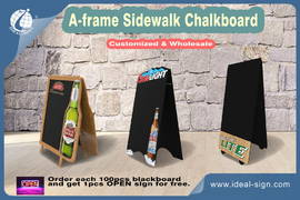 New Design---A-frame Sidewalk Advertising Board