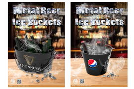 New Designs---Metal Beer Ice Buckets