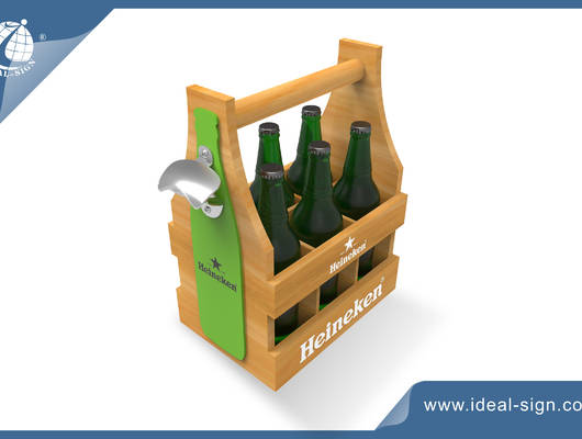 wooden beer holder