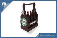 Special Design 6 Bottle Wooden Beer Crate for Customized Brand and Logo