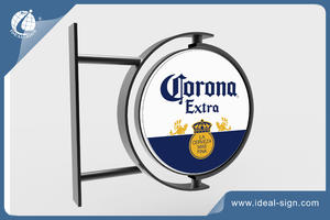 Customized Beer Outdoor Rotating Light Sign