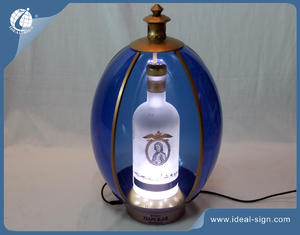 Wholesale custom illuminated acrylic display liquor glorifier for wine & spirit
