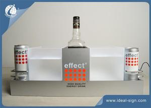 Effect Metal LED Lighted Liquor Bottle Display High Bright