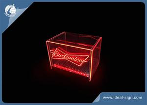 Carton Em Forma De LED Acrílico Balde De Gelo De Marketing Budweiser