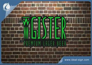 Heineken Logo LED Neon Sign 3 Cores Para Beer Bar Sign