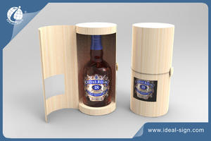 Cylindrical Shape Wine Box